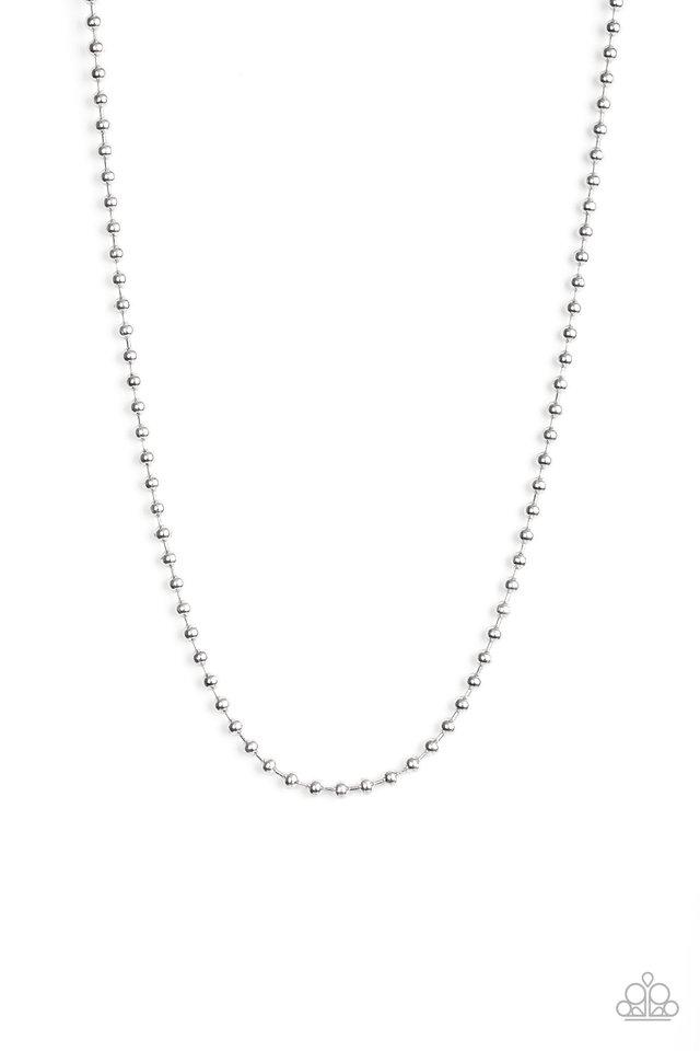 Mardi Gras Madness - Silver - Paparazzi Necklace Image