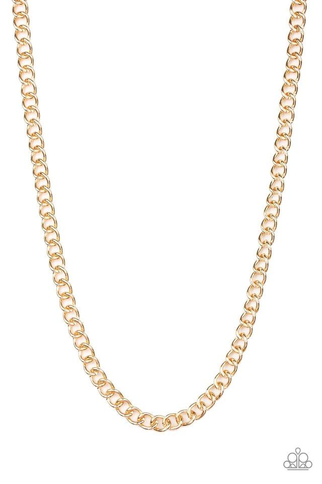 Full Court - Gold - Paparazzi Necklace Image