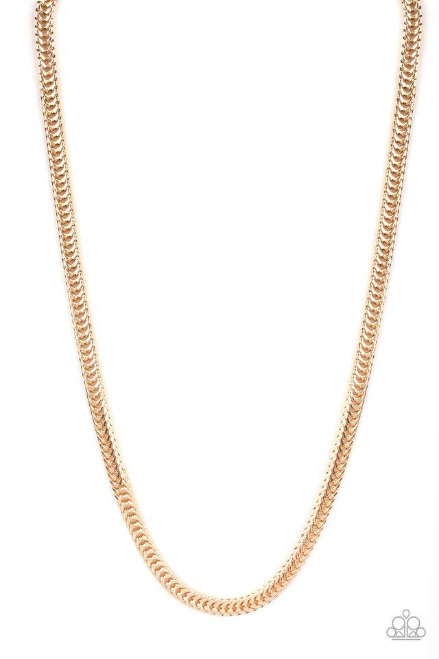 Knockout King - Gold - Paparazzi Necklace Image