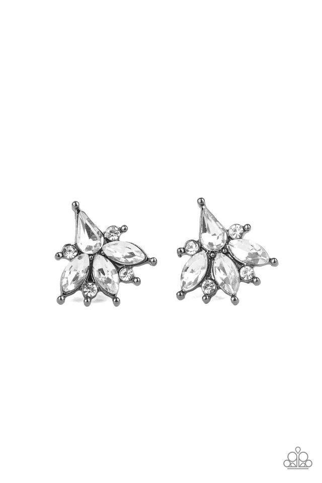 Stellar Sheen - Black - Paparazzi Earring Image