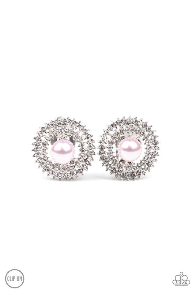 Broadway Breakout - Pink - Paparazzi Earring Image