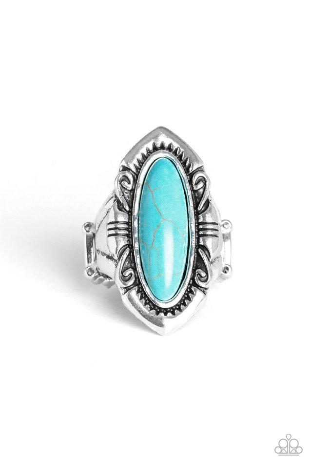 Santa Fe Serenity - Blue - Paparazzi Ring Image