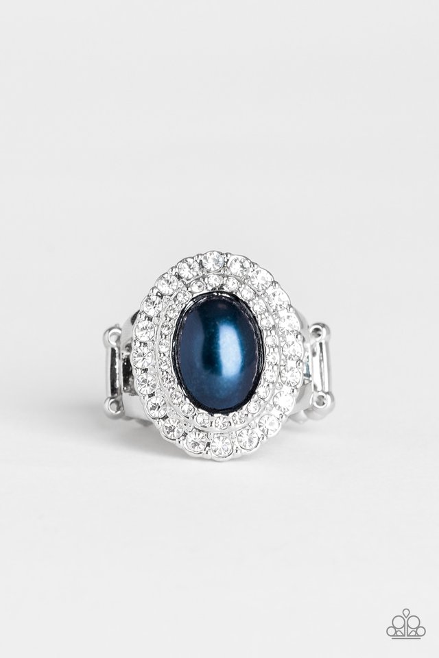 Sprinkle On The Shimmer - Blue - Paparazzi Ring Image