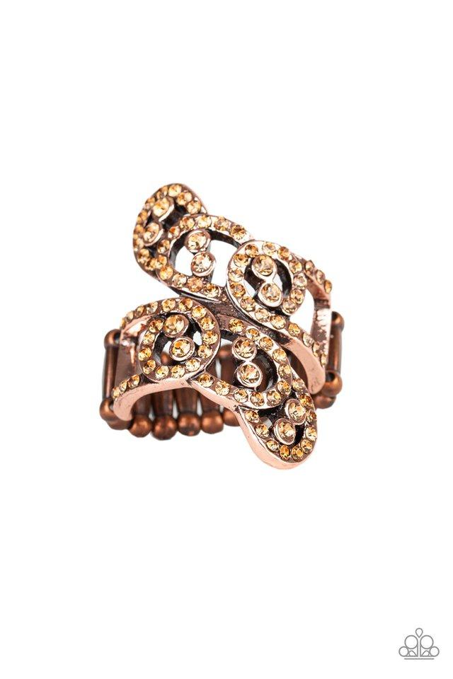 Diamond Dizzy - Copper - Paparazzi Ring Image