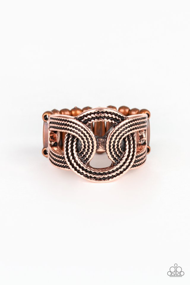 Join Forces - Copper - Paparazzi Ring Image