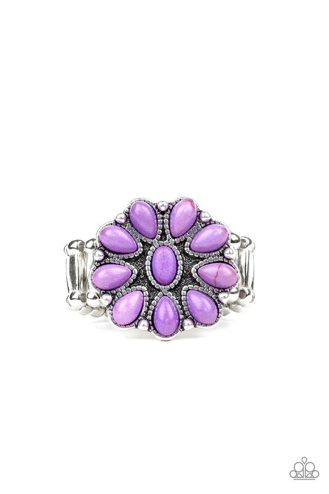 Stone Gardenia - Purple - Paparazzi Ring Image