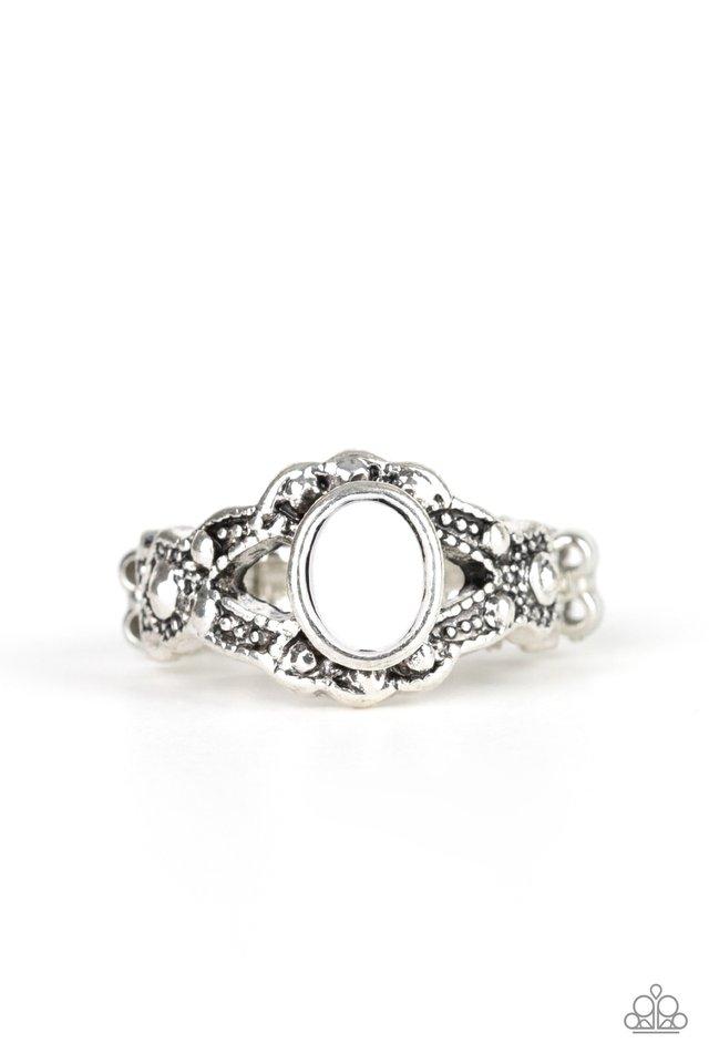 Definitely DOT! - White - Paparazzi Ring Image