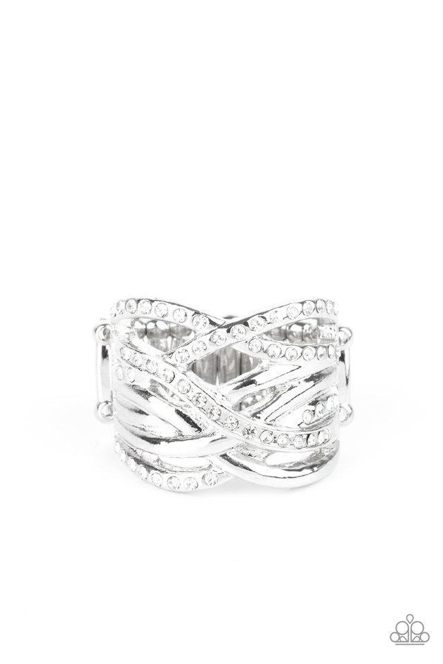 High Rollin - White - Paparazzi Ring Image