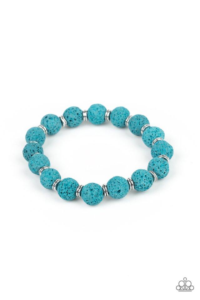 Luck - Blue - Paparazzi Bracelet Image