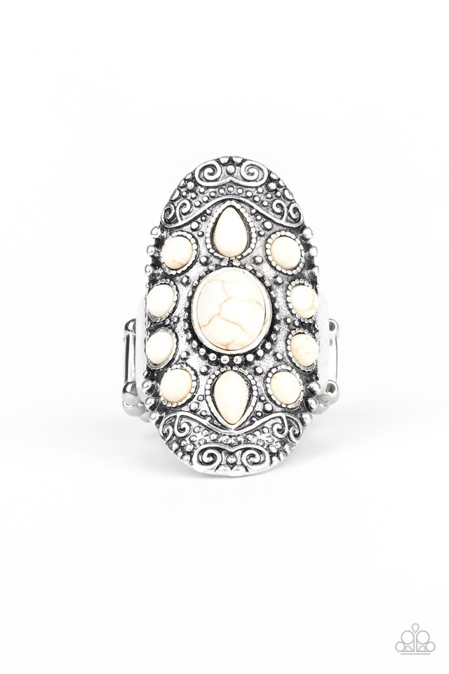 Stone Sunrise - White - Paparazzi Ring Image