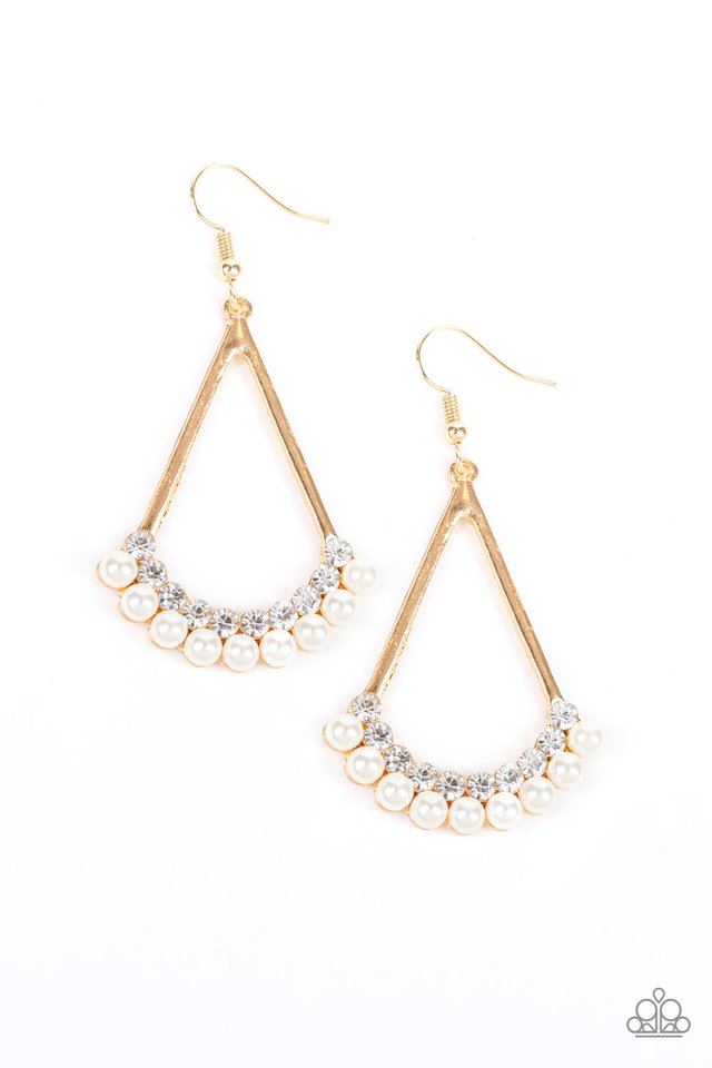 Top to Bottom - Gold - Paparazzi Earring Image