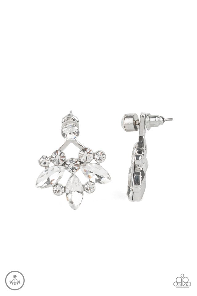 Crystal Constellations - White - Paparazzi Earring Image