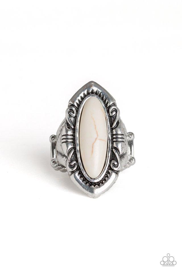 Santa Fe Serenity - White - Paparazzi Ring Image