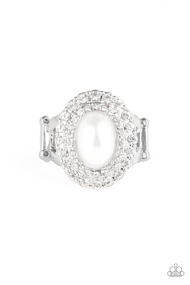 Sprinkle On The Shimmer - White - Paparazzi Ring Image