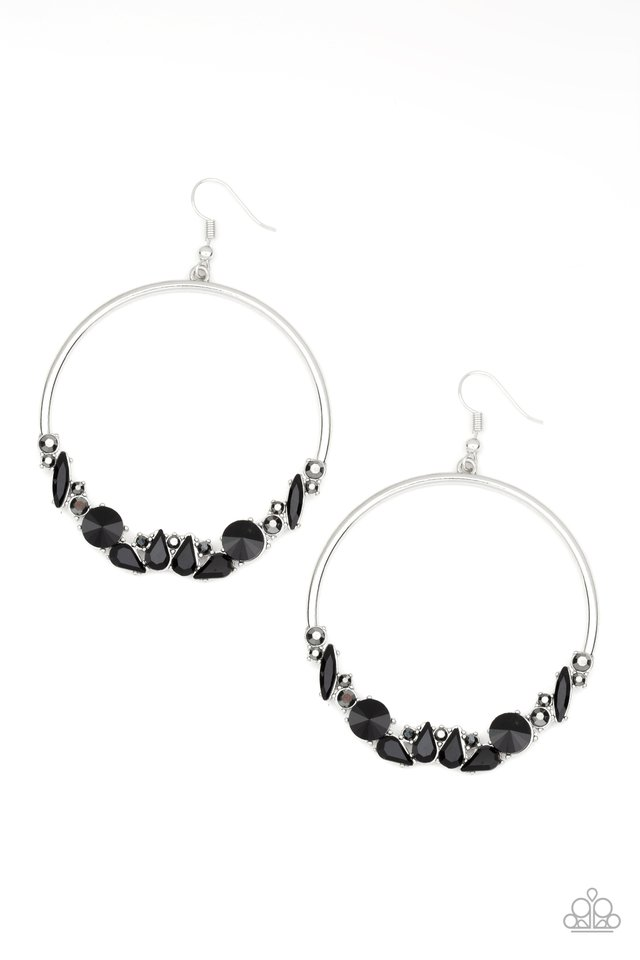 Business Casual - Black - Paparazzi Earring Image