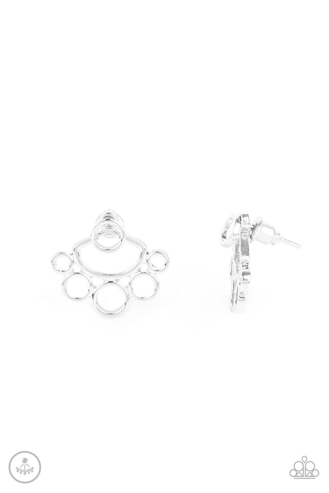 Completely Surrounded - Silver - Paparazzi Earring Image