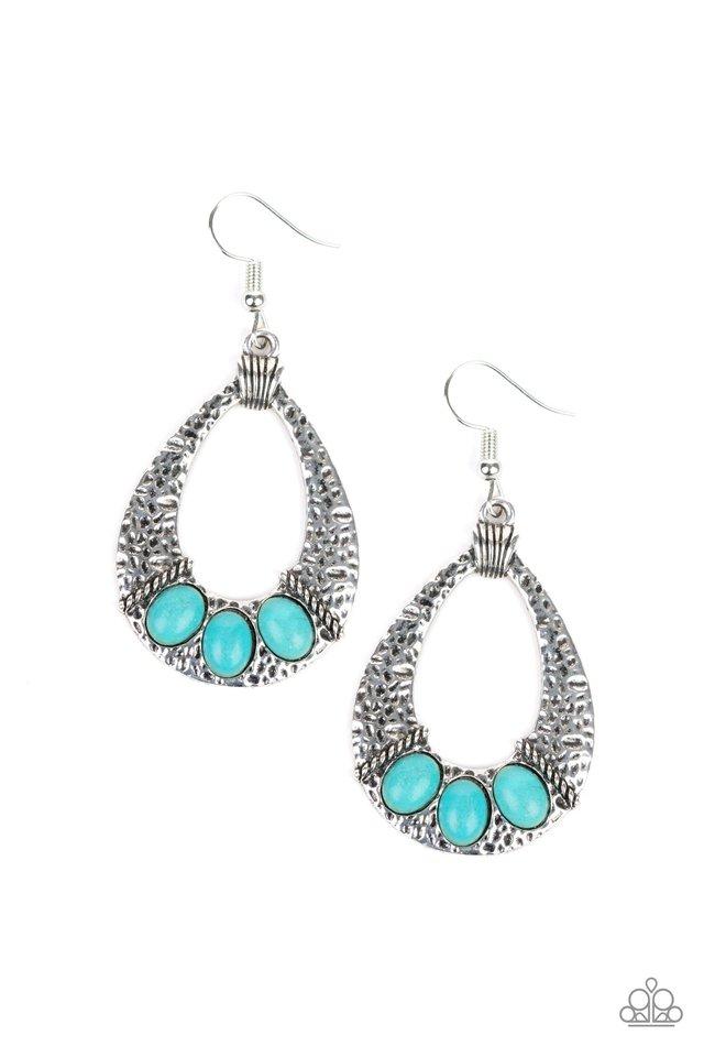 Terra Terrific - Blue - Paparazzi Earring Image