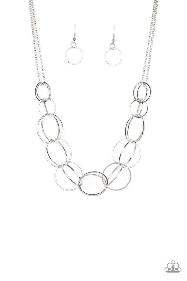 Space Walk - Silver - Paparazzi Necklace Image