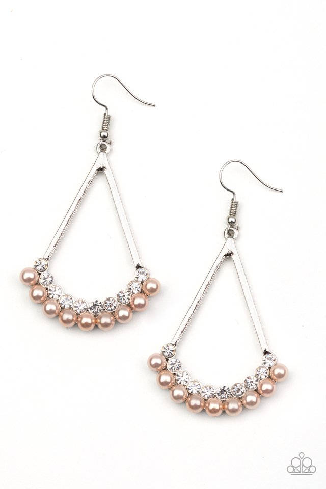Top to Bottom - Brown - Paparazzi Earring Image