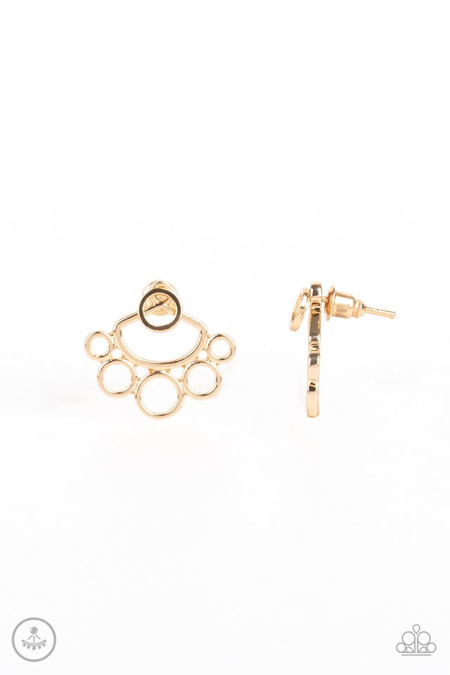 Completely Surrounded - Gold - Paparazzi Earring Image