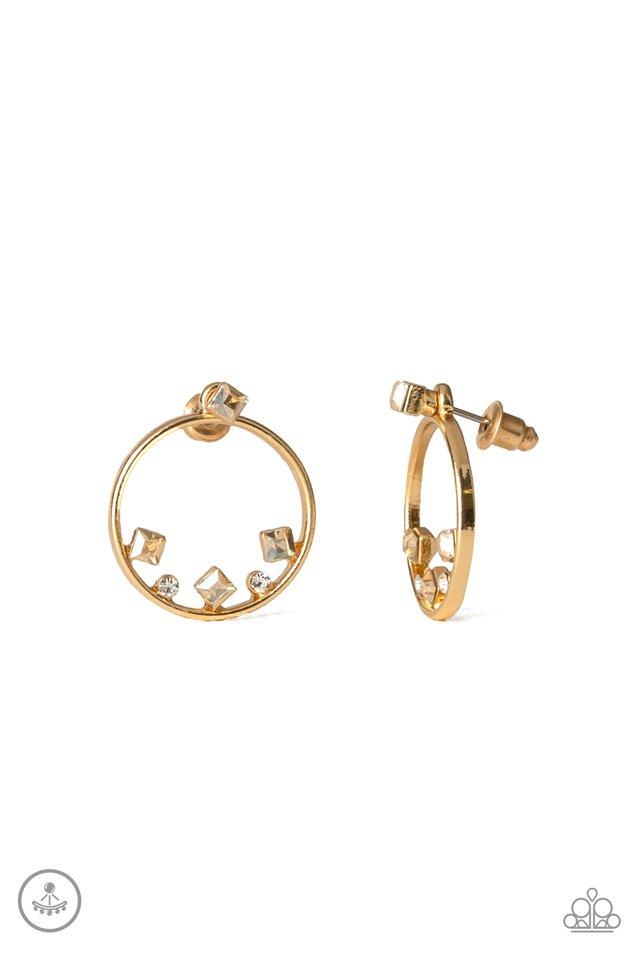 Top-Notch Twinkle - Gold - Paparazzi Earring Image