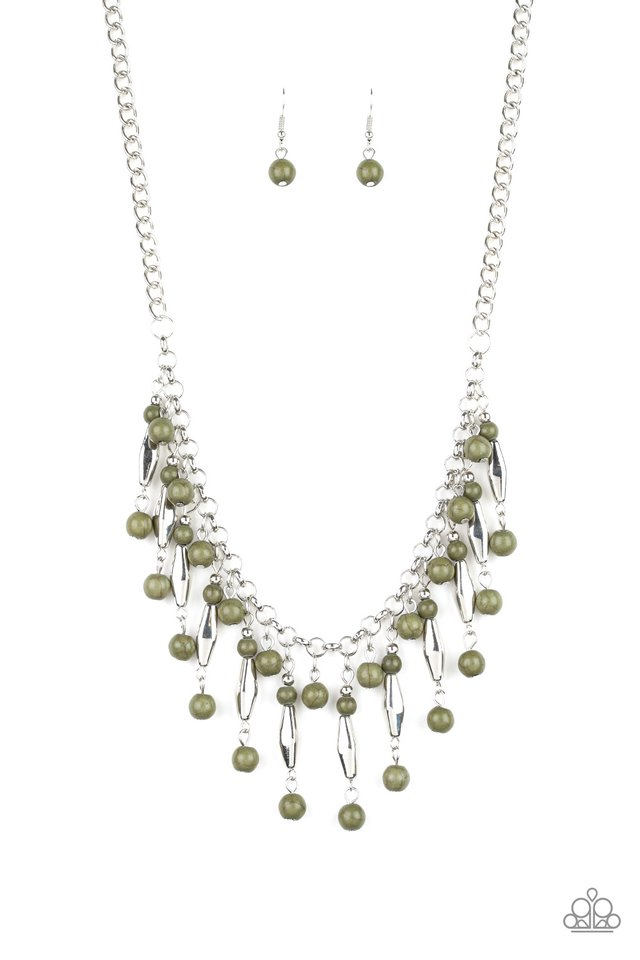Earth Conscious - Green - Paparazzi Necklace Image