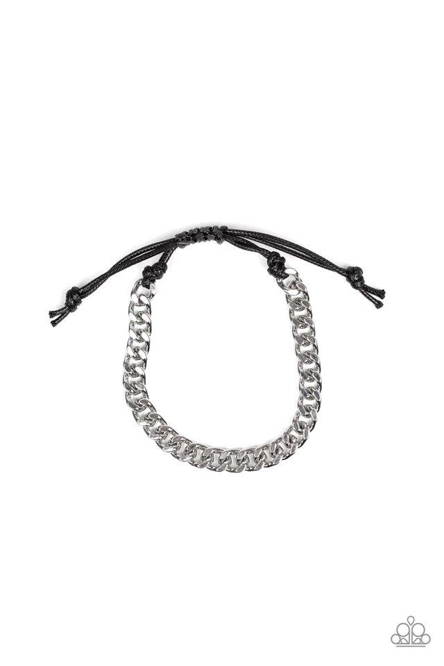 Throwdown - Silver - Paparazzi Bracelet Image