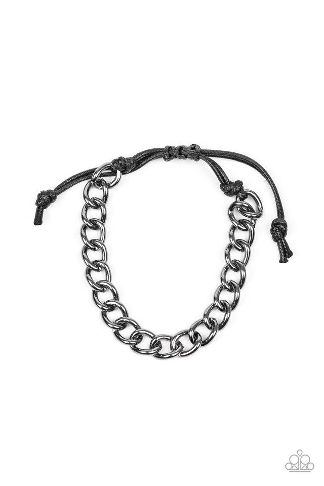 Sideline - Black - Paparazzi Bracelet Image