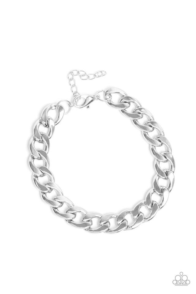 Leader Board - Silver - Paparazzi Bracelet Image