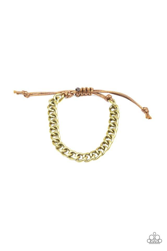 Blitz - Brass - Paparazzi Bracelet Image