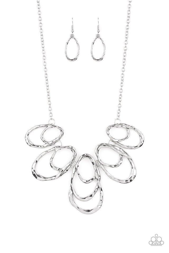 Terra Storm - Silver - Paparazzi Necklace Image