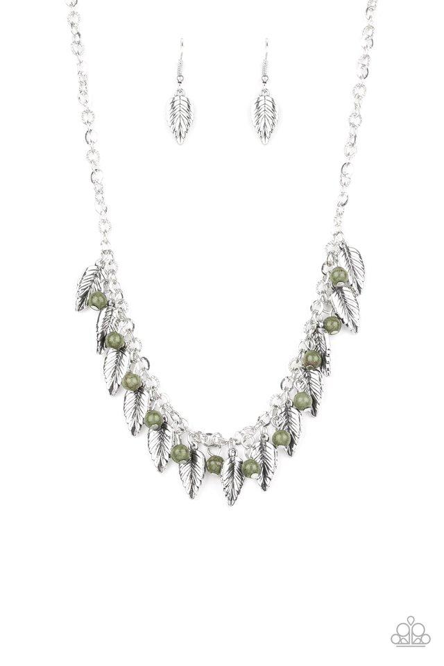 Boldly Airborne - Green - Paparazzi Necklace Image