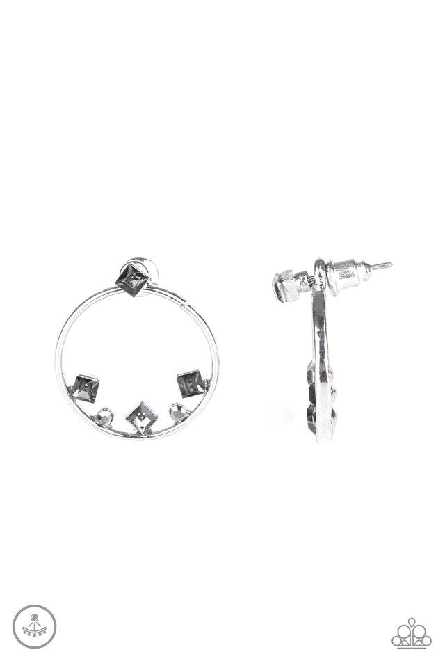 Top-Notch Twinkle - Silver - Paparazzi Earring Image