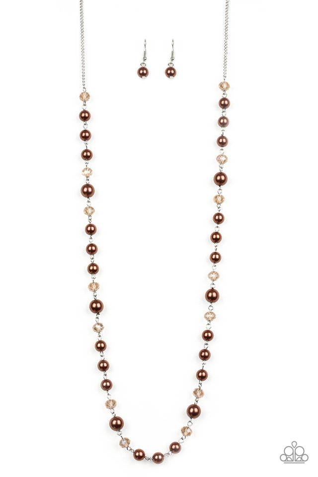 Pristine Prestige - Brown - Paparazzi Necklace Image