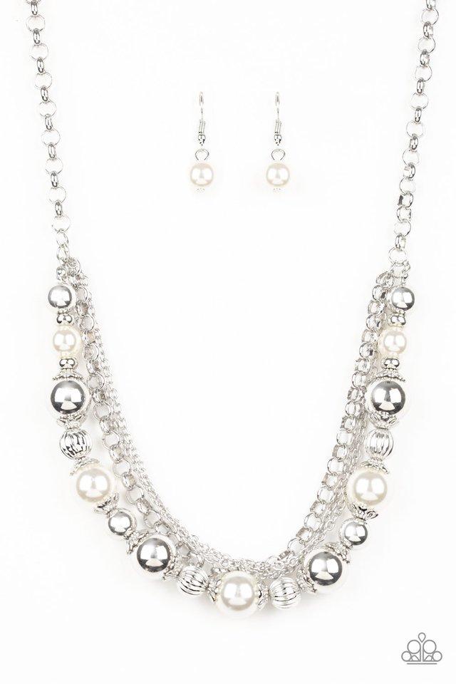 5th Avenue Romance - White - Paparazzi Necklace Image