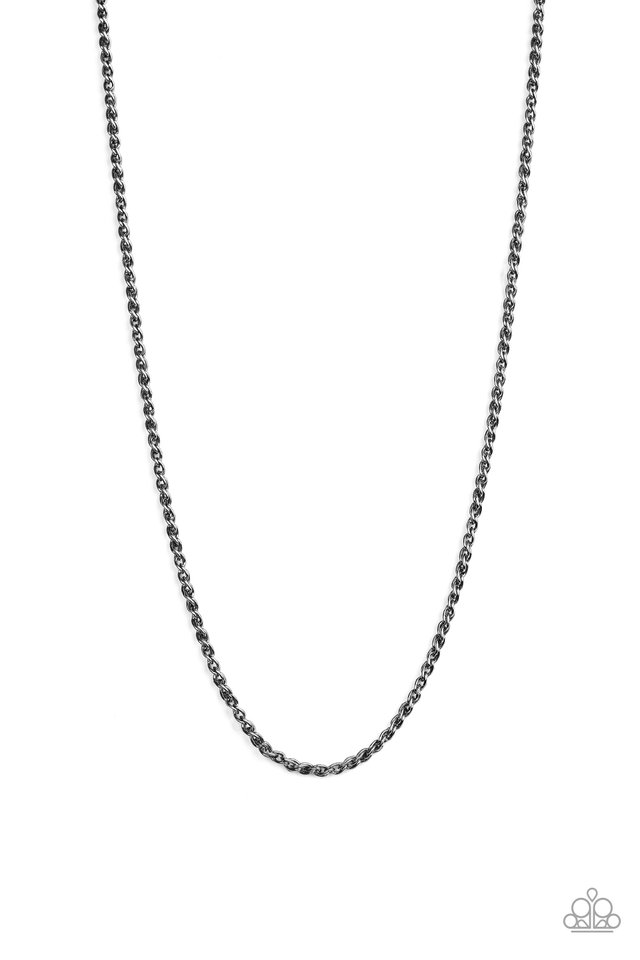 Jump Street - Black - Paparazzi Necklace Image
