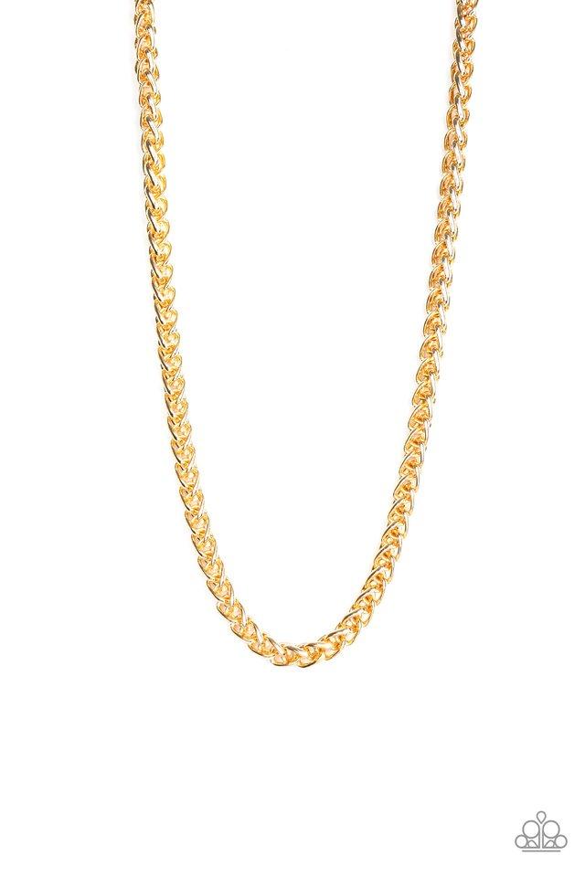 Big Talker - Gold - Paparazzi Necklace Image