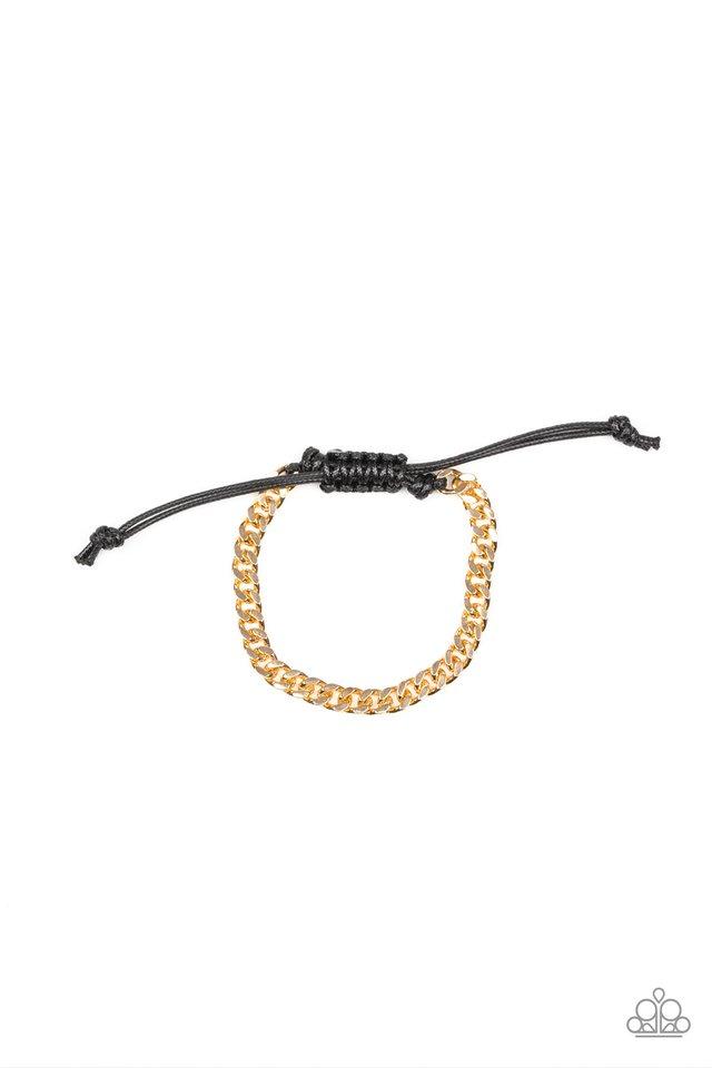 Hurrah - Gold - Paparazzi Bracelet Image