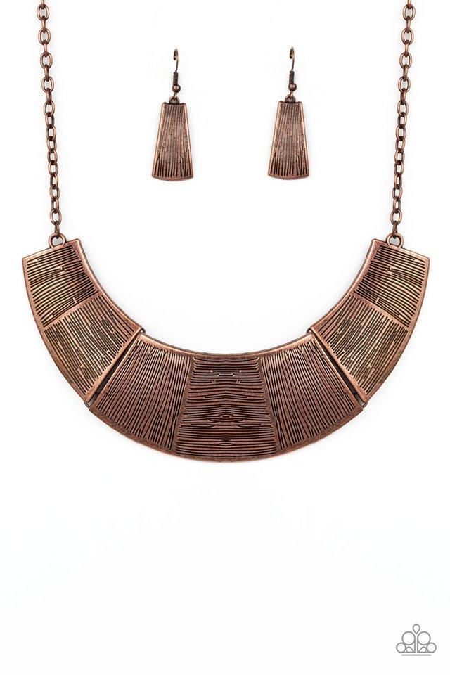 More Roar - Copper - Paparazzi Necklace Image