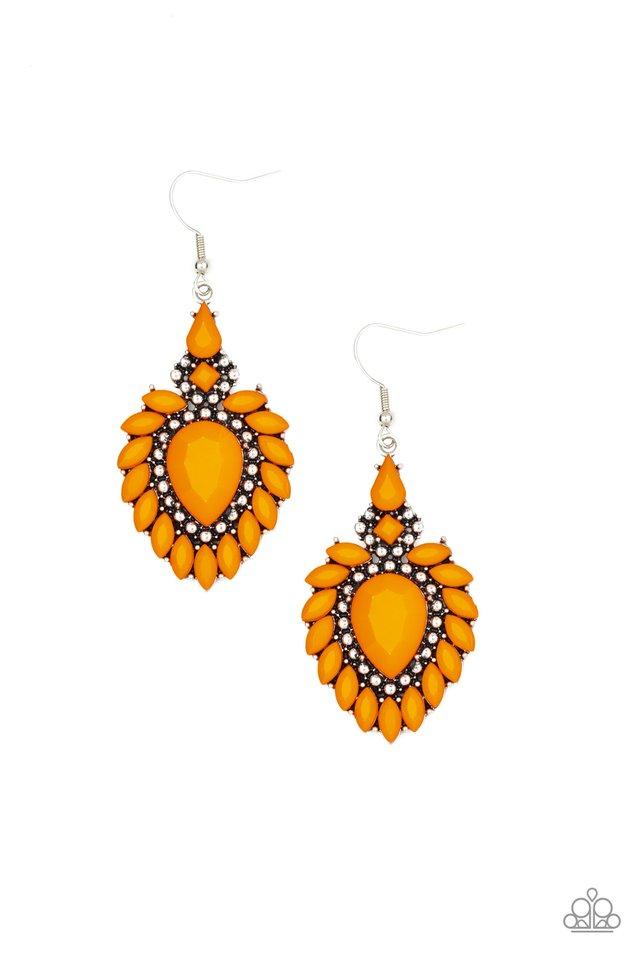The LIONESS Den - Orange - Paparazzi Earring Image