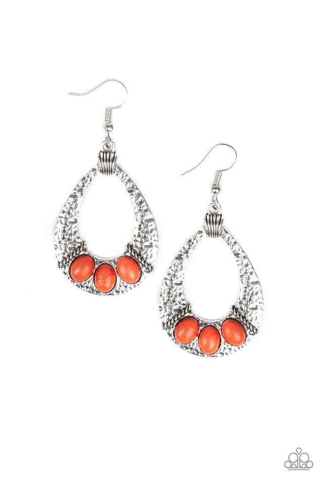 Terra Terrific - Orange - Paparazzi Earring Image