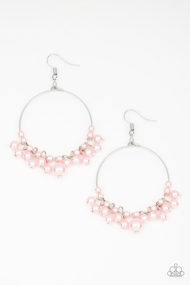 The PEARL-fectionist - Pink - Paparazzi Earring Image