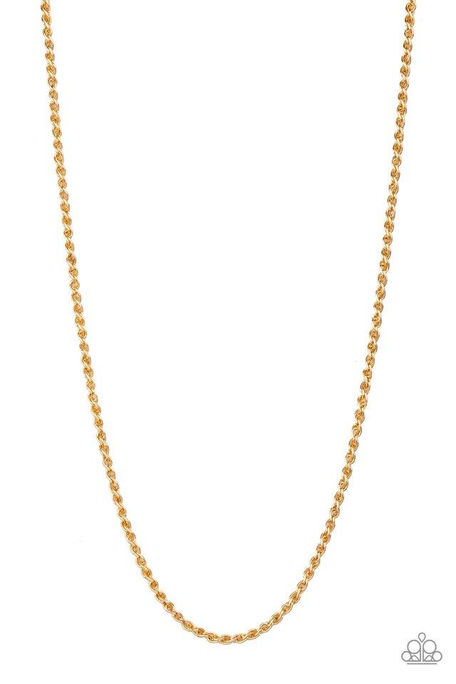 Jump Street - Gold - Paparazzi Necklace Image