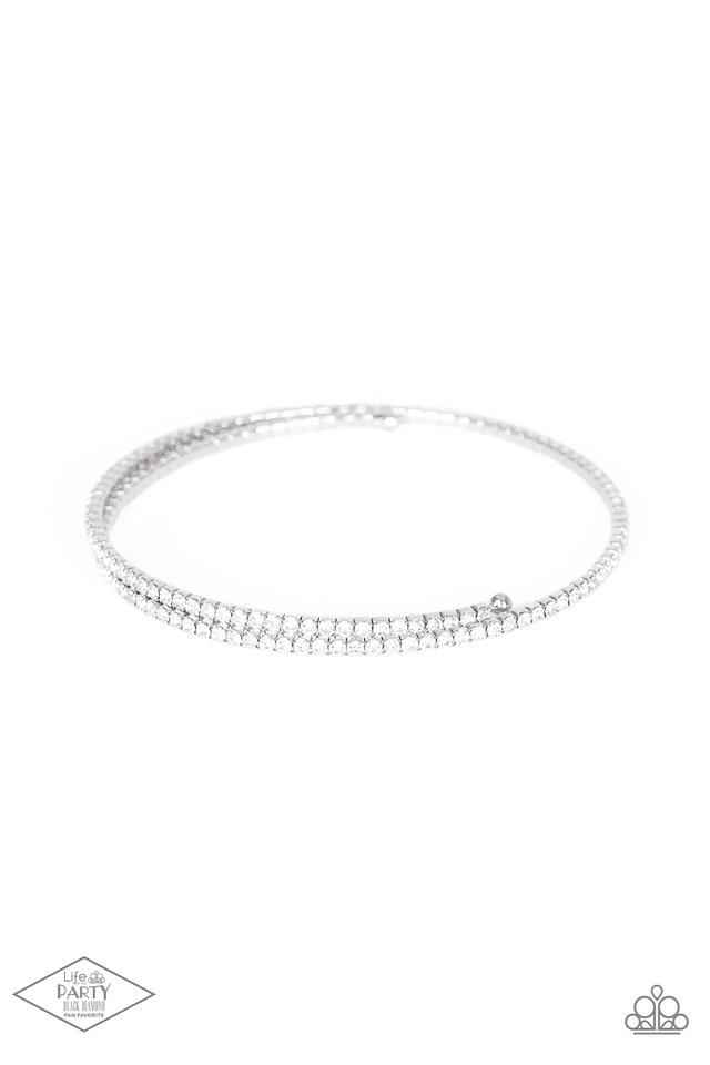 Sleek Sparkle - White - Paparazzi Bracelet Image