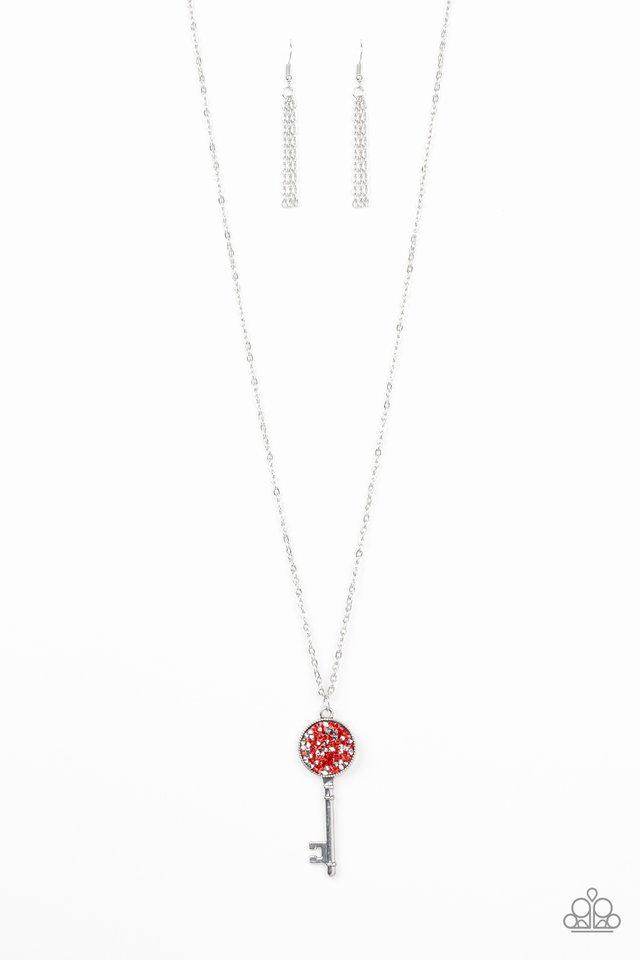 Key Keepsake - Red - Paparazzi Necklace Image