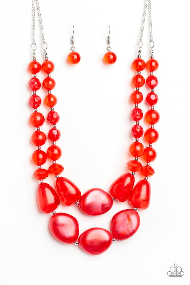 Beach Glam - Red - Paparazzi Necklace Image
