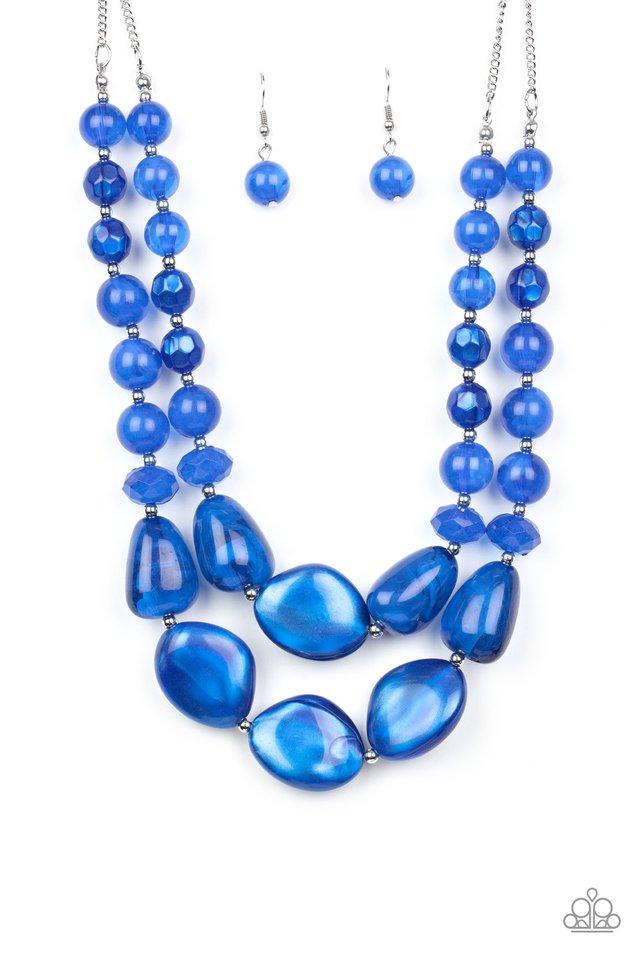 Beach Glam - Blue - Paparazzi Necklace Image