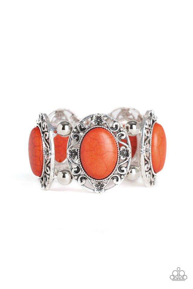 Rodeo Rancho - Orange - Paparazzi Bracelet Image