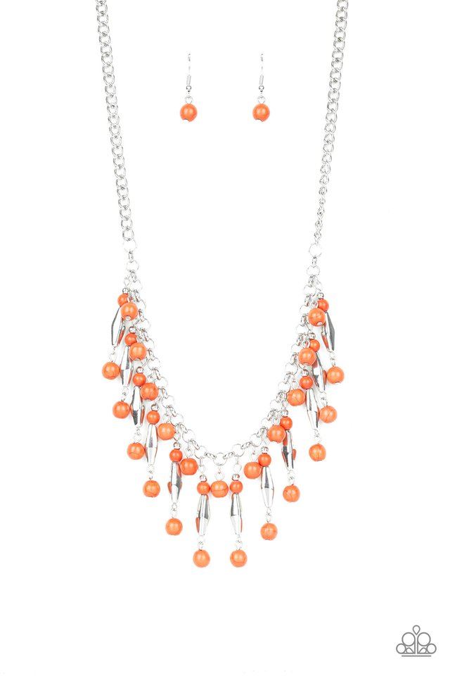 Earth Conscious - Orange - Paparazzi Necklace Image