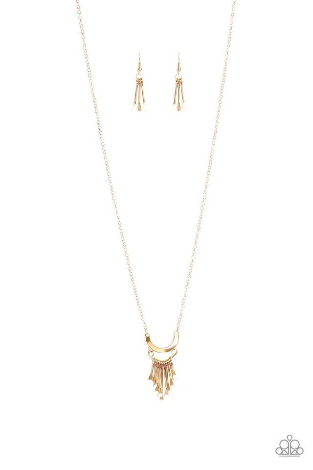 Trendsetting Trinket - Gold - Paparazzi Necklace Image